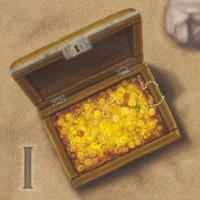 Сундук с монетами, 1 шт.