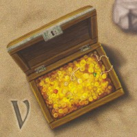 Сундук с монетами, 5 шт.