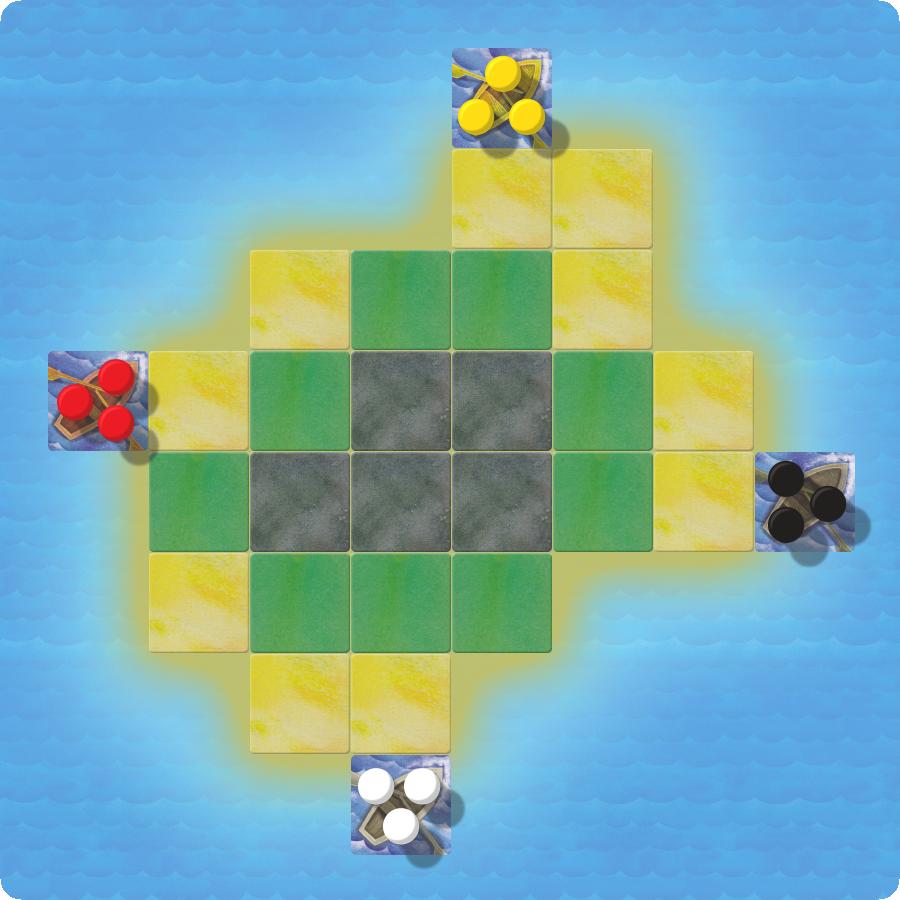 Раскладка первого острова