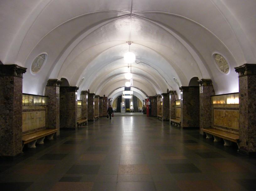 Станция Динамо, центральный неф