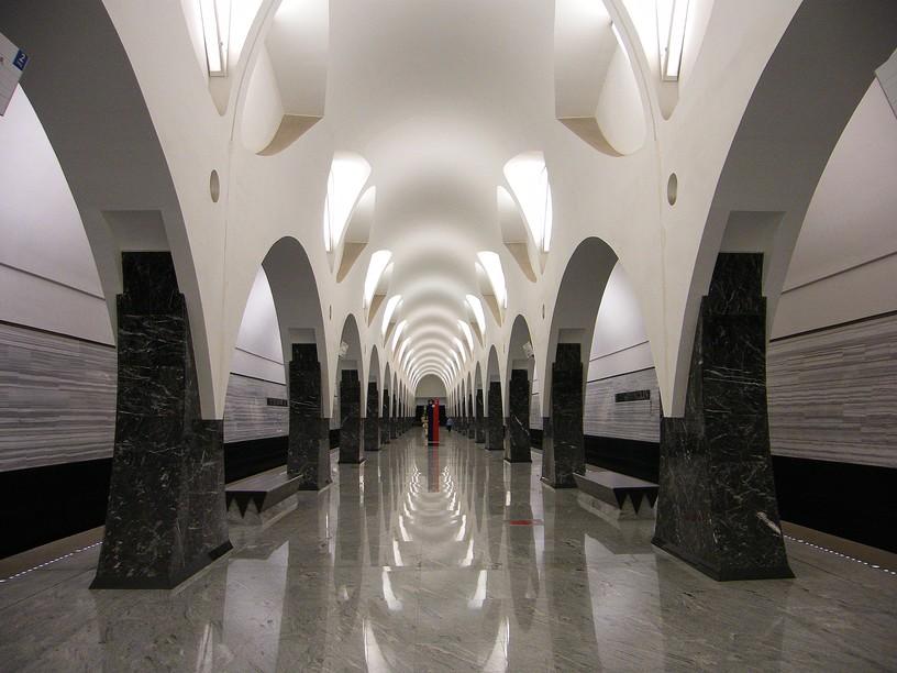 Станция Волоколамская, центральный неф