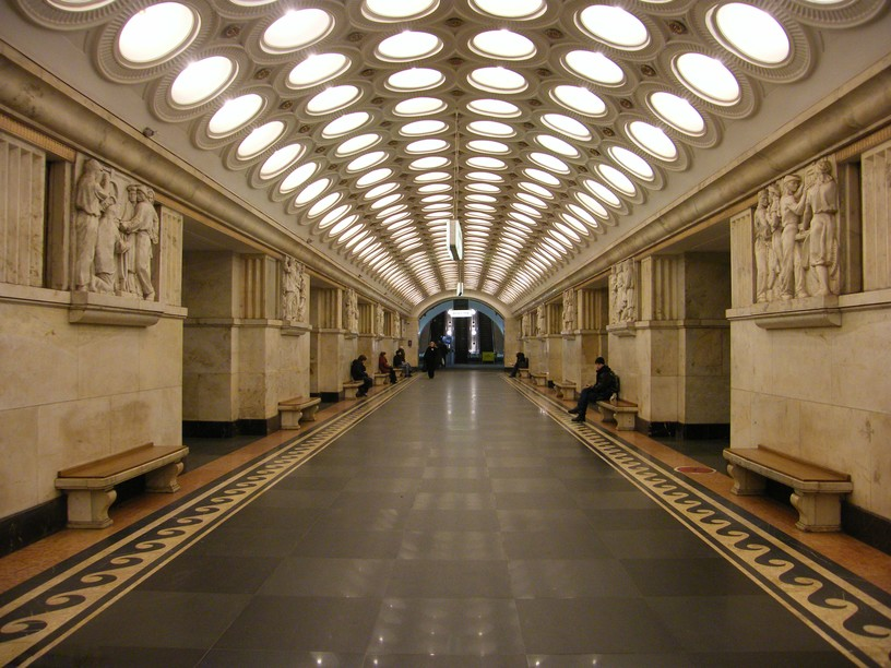 Станция Электрозаводская, центральный неф