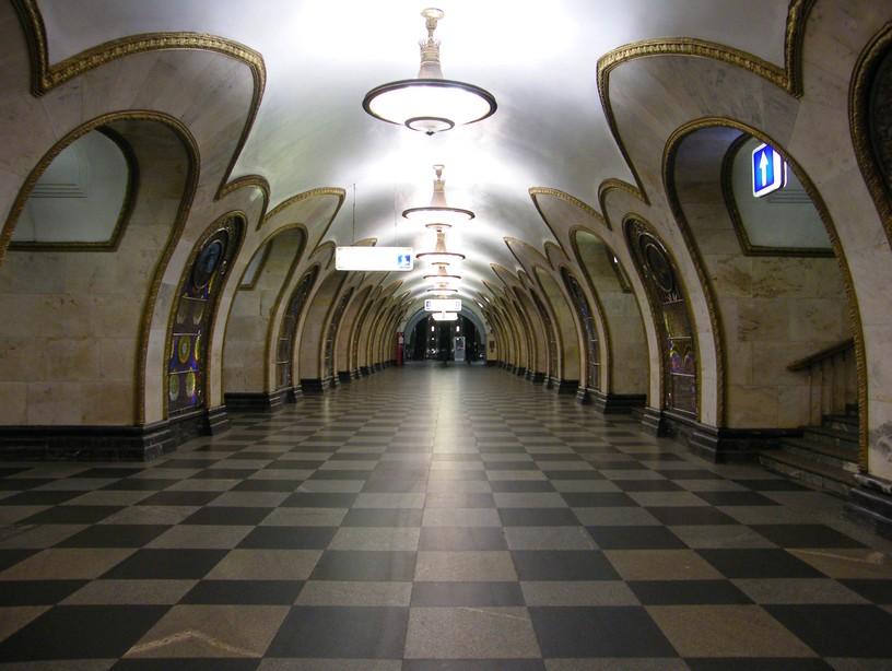 Станция Новослободская, центральный неф