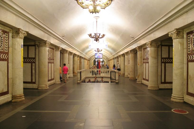 Станция Павелецкая, центральный неф