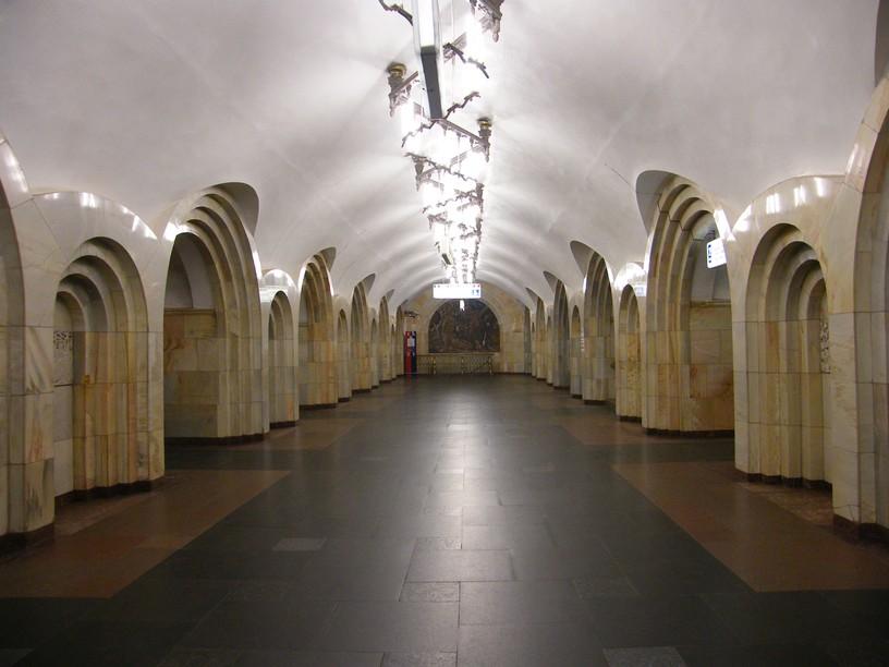 Станция Добрынинская, центральный неф