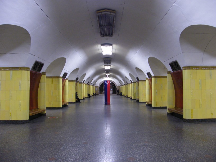 Станция Рижская, центральный неф
