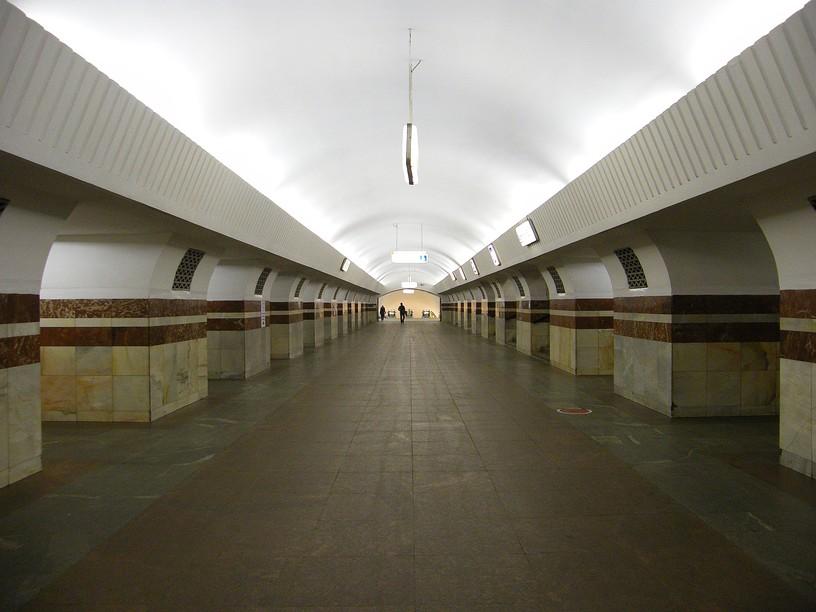 Станция Таганская, центральный неф