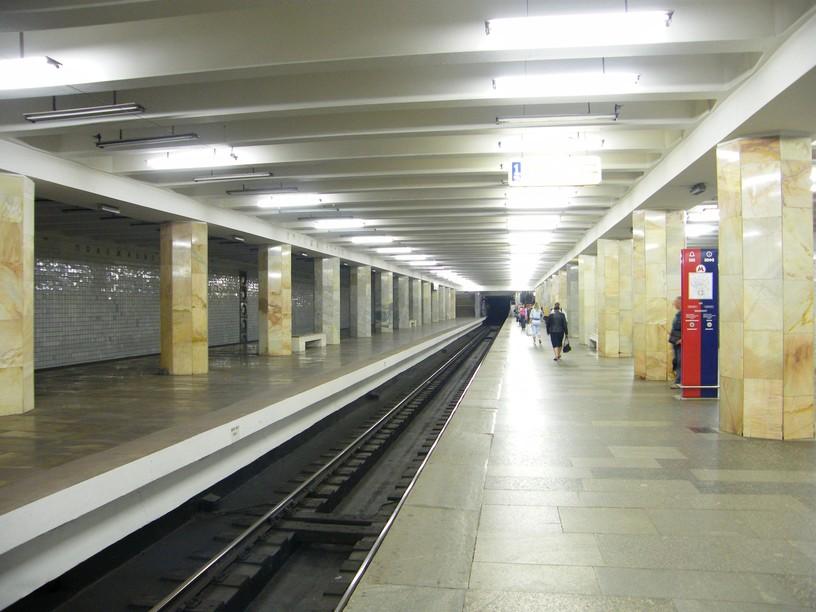 Станция Полежаевская, общий вид