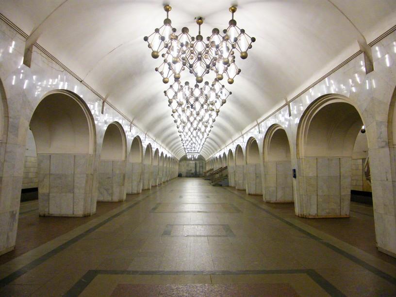 Станция Менделеевская, центральный неф