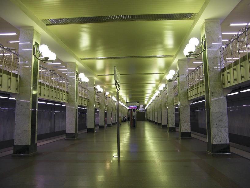 Станция Бульвар Дмитрия Донского, общий вид