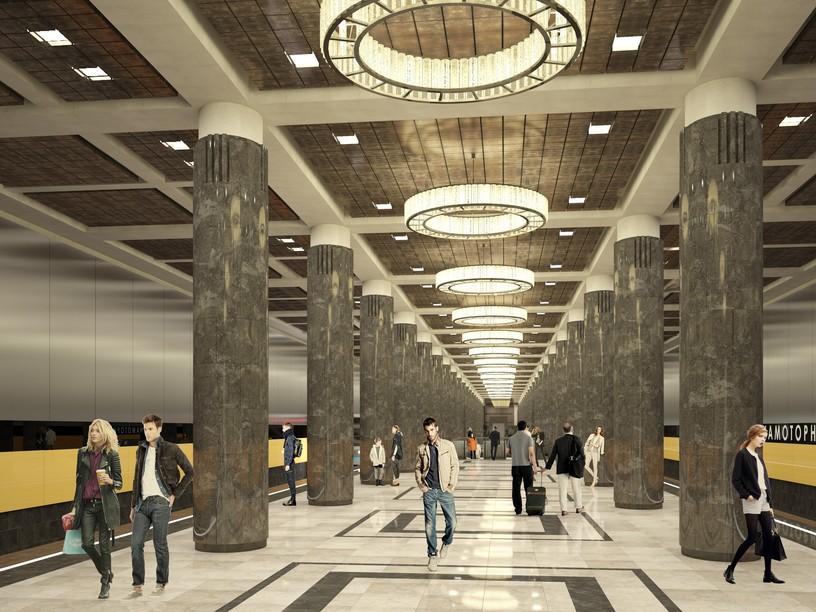 Станция Авиамоторная, проект