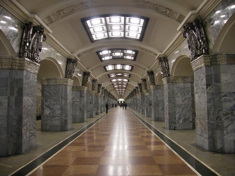 Станция Кировский завод, центральный неф