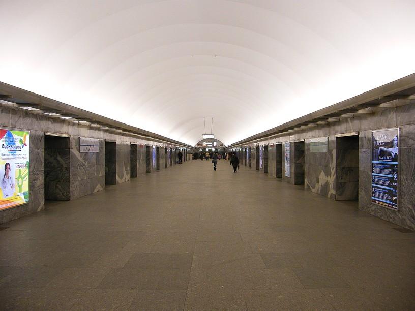 Станция Московская, центральный неф