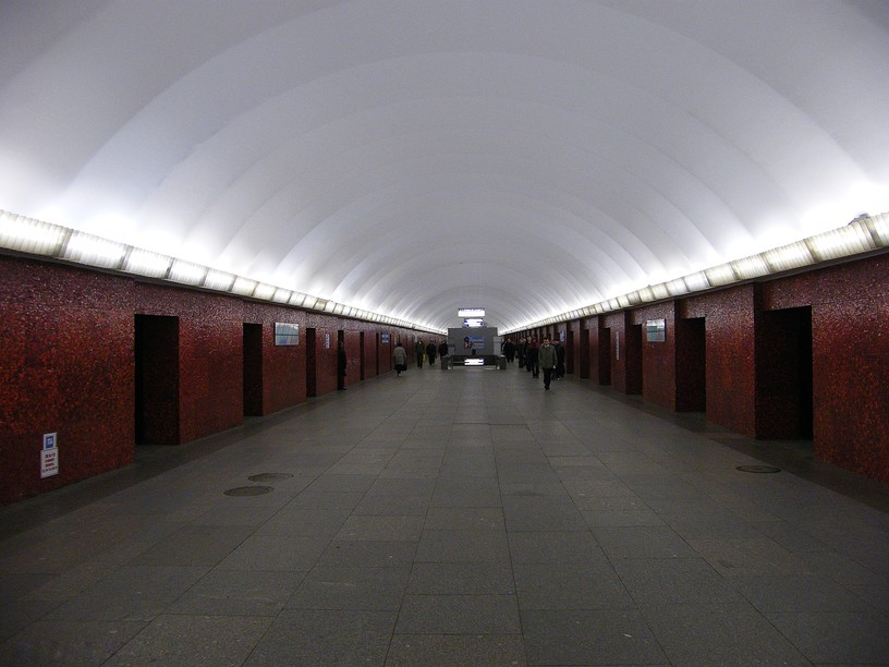 Станция Маяковская, центральный неф