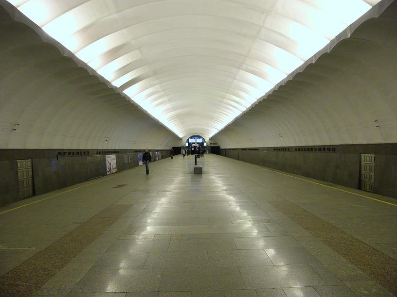 Станция Проспект Большевиков, общий вид