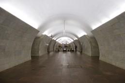 Станция Тверская, центральный неф