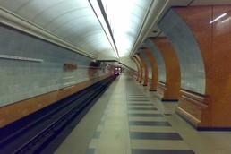 Станция Парк Победы, южный зал, боковой неф