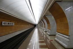 Станция Парк Победы, северный зал, боковой неф