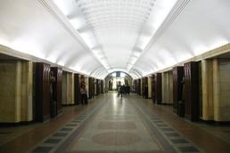 Станция Бауманская, центральный неф