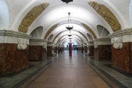 Станция Краснопресненская, центральный неф