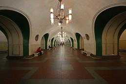 Станция ВДНХ, центральный неф