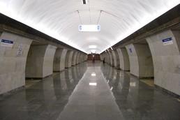 Станция Тургеневская, центральный неф
