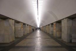 """Станция Китай-город, восточный зал """"Гармошка"""""""