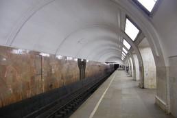 Станция Третьяковская, северный зал, боковой неф