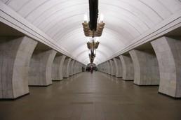Станция Чеховская, центральный неф