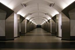 Станция Сретенский бульвар, центральный неф