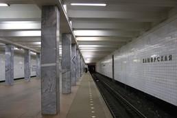 Станция Каширская, восточный зал, платформа