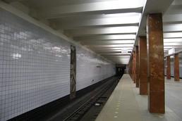 Станция Каширская, западный зал, платформа