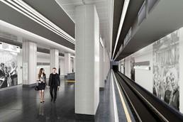Станция Улица Народного ополчения, проект
