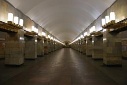 Станция Гражданский проспект, центральный неф
