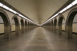 Станция Академическая, центральный неф