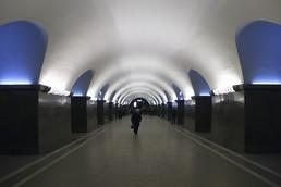 Станция Площадь Ленина, центральный неф