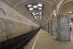Станция Кировский завод, боковой неф