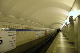 Станция Проспект Просвещения, боковой неф
