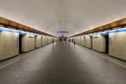 Станция Петроградская, центральный неф