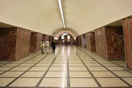 Станция Московские ворота, центральный неф