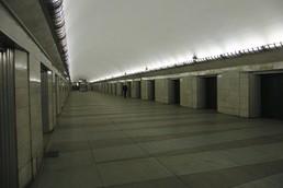 Станция Парк Победы, центральный неф