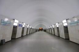 Станция Площадь Александра Невского 1, центральный неф