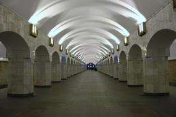 Станция Площадь Александра Невского 2, центральный неф