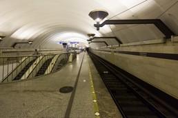 Станция Спортивная, верхний ярус, платформа