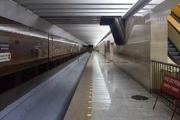 Станция Спортивная, нижний ярус, платформа